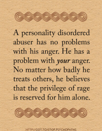 Narcissistic Rage and Borderline Personality Disorder