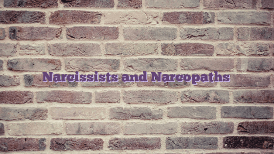 Narcissists and Narcopaths